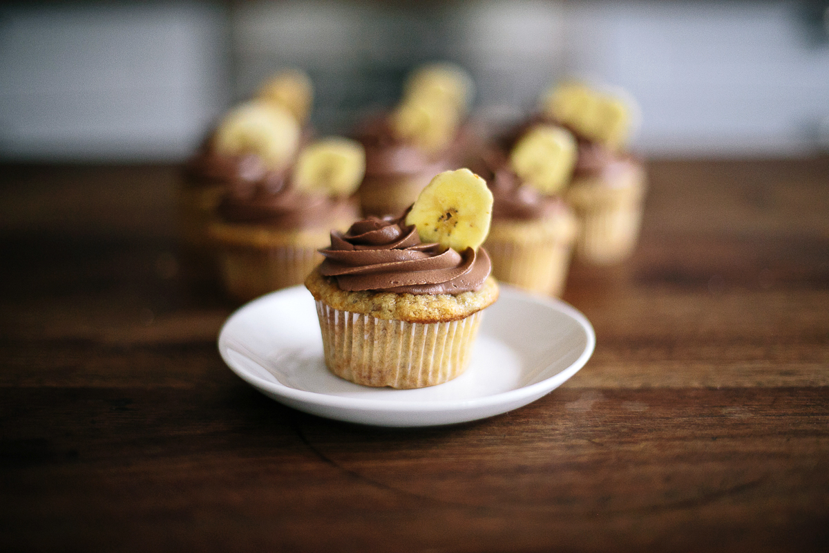 Banana & Chocolate Cupcakes