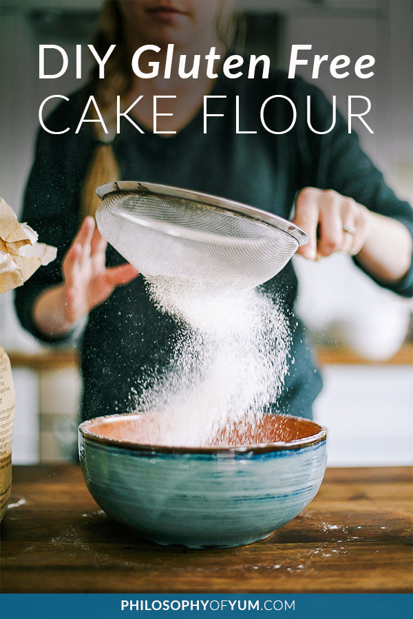 Gluten Free Cake Flour with no crazy ingredients and super easy to make! This gluten free flour can be substituted gram for gram in ANY cake recipe! I also use it to make shortcrust pastry, rough puff pastry and even in homemade gluten free pasta - as in gluten free pasta that can be rolled into sheets with a hand operated pasta machine – I kid you not! #glutenfreebaking #glutenfreecake #glutenfreeflour #homebaking