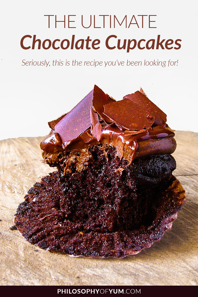 Looking for that ultimate Chocolate Cupcake recipe? Super moist, ridiculously chocolate-y, not too sweet and packed with flavour? This is the chocolate cupcake recipe you've been looking for. Click through to get therecipe! #chocolatecupcakes #bestchocolatecupcakes #chocolatecupcakerecipe #homebaking