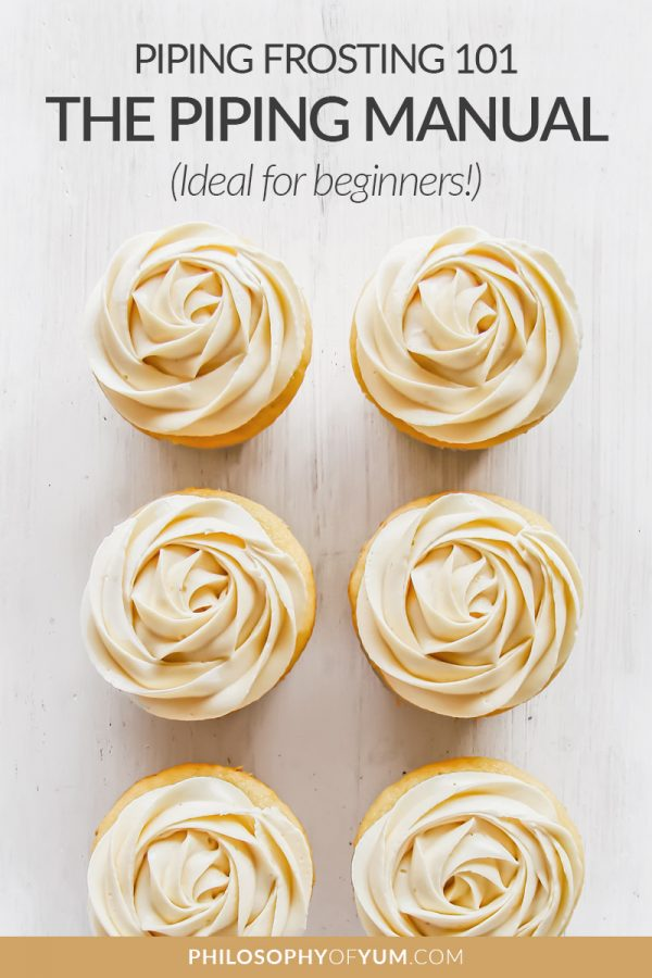 A step by step tutorial with thorough explanations on hand movements, frosting consistency, piping nozzles, different piping techniques and more. You'll be piping frosting like a pro in not time! #cupcakedecorating #cakedecorating #perfectcupcakes #pipingfrosting