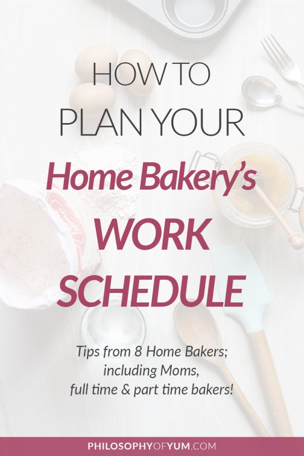 Learn how to plan your Home Bakery's weekly work schedule for optimal efficiency and profit, without burning out or neglecting your family :) Includes input from 8 different Home Bakery owners! #cakebusiness #homebakery #bakingbusiness