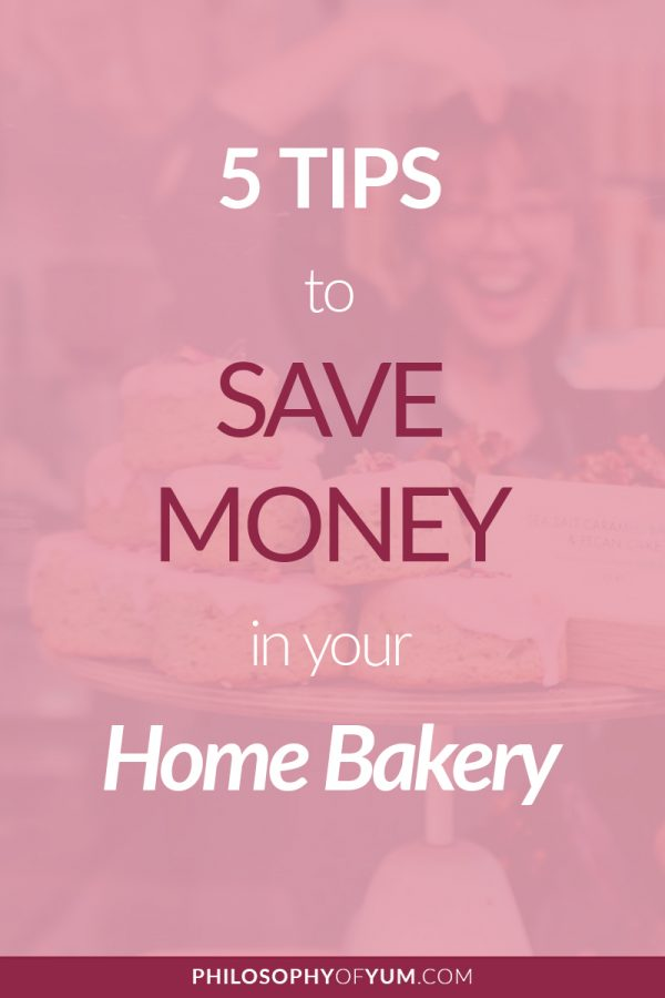 5 Amazing Tips to Save Money in your Home Bakery without compromising on the quality of your baked goods! Building a Home Bakery does not have to be expensive. Click through to learn how you can save money where it counts. #homebakery #cakebusiness #bakingbusiness #cupcakebusiness
