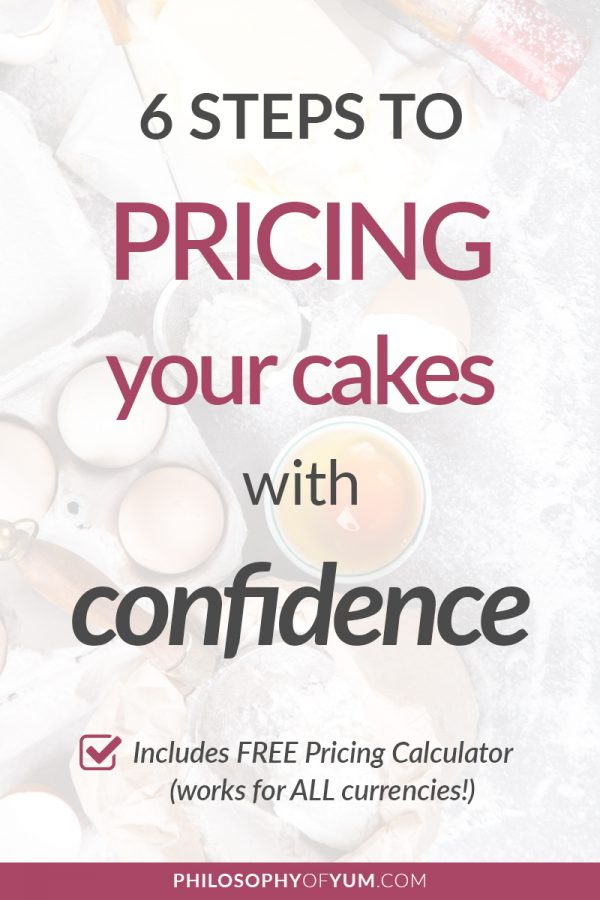 Cake pricing has always been an issue for Home Bakers, but it's not because we're bad at maths (obvs!). In this post you'll get everything you need to settle pricing issues - forever! Take the 6 steps with deeper insights on being CONFIDENT when you price your cakes instead of awkward. Get a free pricing calculator (cake pricing chart) download to do all the fancy math for you in your Home Bakery Business! Click through to get started. #homebakery #cakepricing #cakebusiness #bakingbusiness