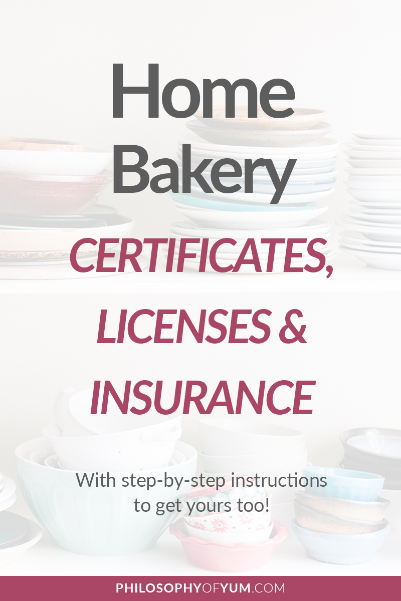 Home Bakery Businesses do need a few Certificates, Licenses and Insurance to operate legally. But they are all very easy to get and aren't expensive at all! Here's all the info you need, with step by step instructions, to get your required Home Bakery Business documents. #homebakery #bakingbusiness #cakebusiness #homebaking