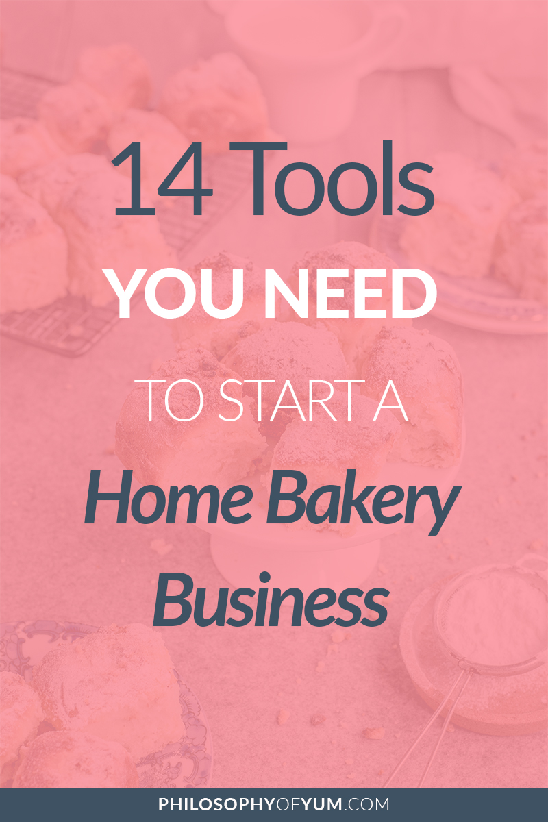 Nope, you don't need a Kitchen Aid Mixer or a huge oven to start your Home Bakery! You can get by with very few tools and appliances and still turn a GREAT profit with your Home Baking. Here's a list of the essential tools you'll need when you Start your Home Bakery Business. #homebakery #cakebusiness #bakingbusiness
