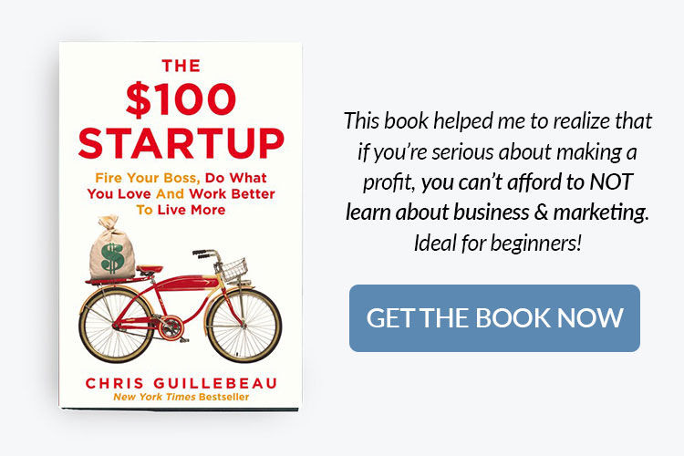 books for home bakery business owners - the $100 startup by Chris Guillebeau