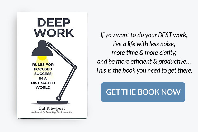 books for home bakery business owners - deep work by Cal Newport