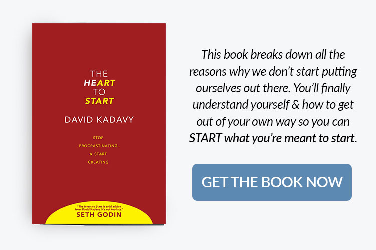 books for home bakery business owners - the heart to start by David Kadavy