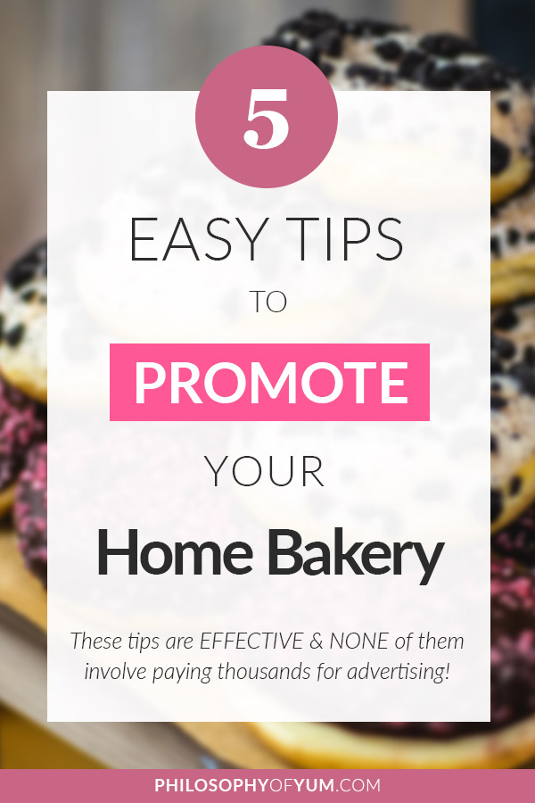 Are you struggling to get clients & sales in your home bakery business? Promoting your business and getting more exposure is essential for your success. Most bakers believe you need to pay money for advertising, but that's an outdated strategy that will leave you broke and disappointed. Click through to get EFFECTIVE strategies for promoting your baking business without paying money for advertising at all! #baking #bakingbusiness #homebaking #homebusiness