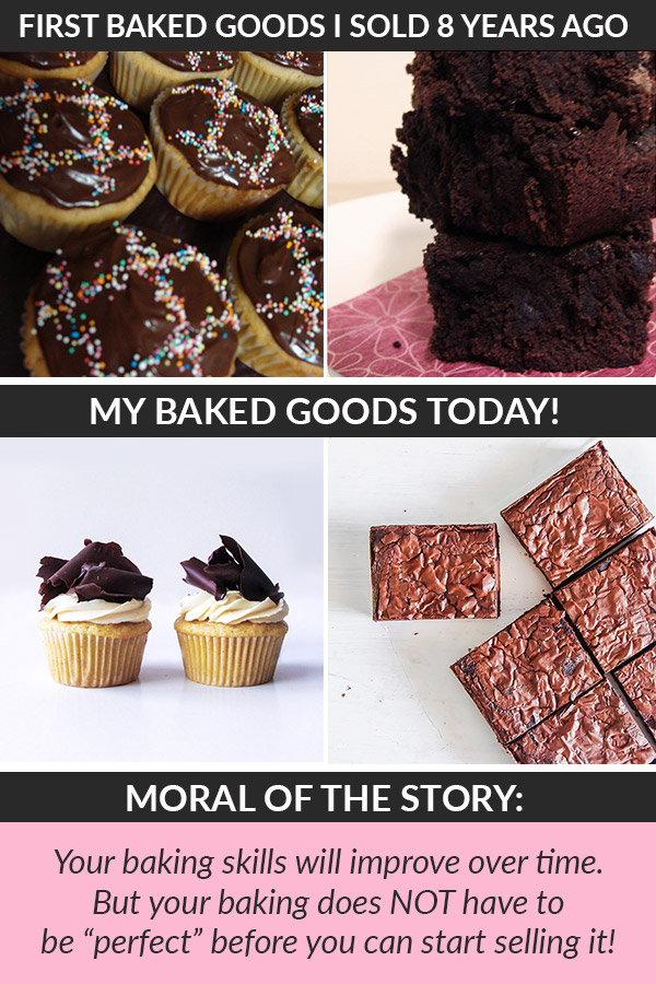 "Do your recipes & baked goods need to be ""perfect"" before you can start selling them? Actually, NO!! Not at all! Many home bakers assume they need to be a super experienced baker that develops their own recipes before they can start a Home Bakery. And it's a total LIE! Here's the truth about what it takes to start a Home Baking Business... #homebaker #baking #bakingbusiness #homebaking #homebakery"